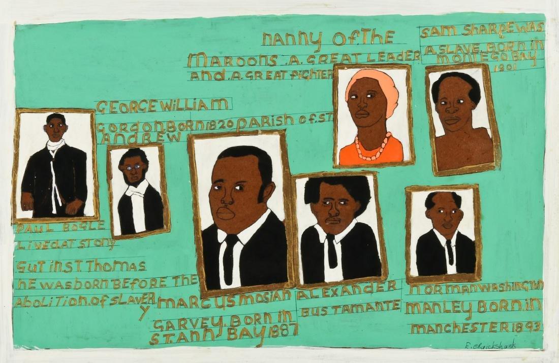 Evadney Cruickshank (20th c.) Heroes of Jamaica's Fight