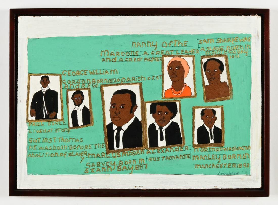 Evadney Cruickshank (20th c.) Heroes of Jamaica's Fight - 2