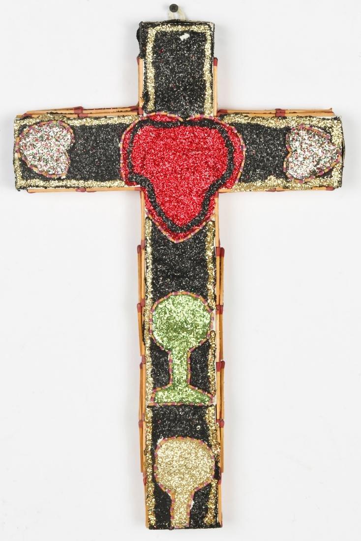 L.W. Crawford (20th c.) Matchstick Cross