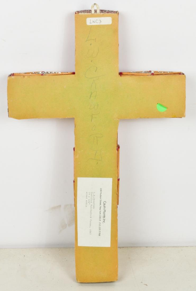L.W. Crawford (20th c.) Folk Art Matchstick Cross, 1987 - 3