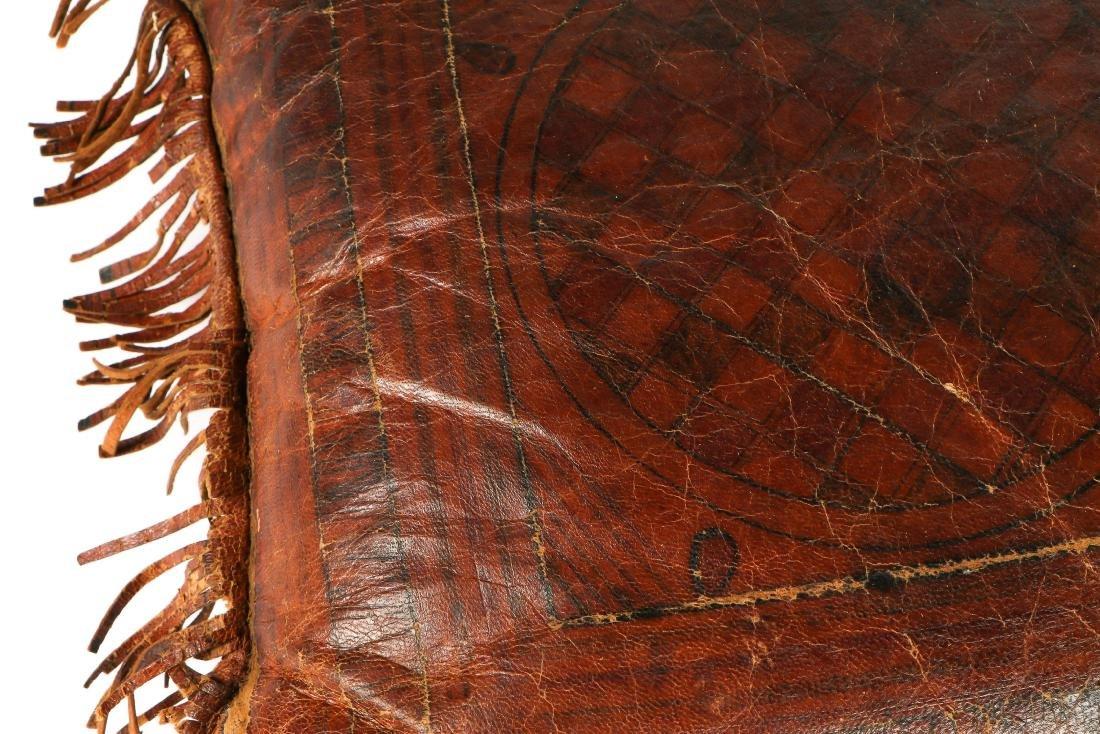 6 Tuareg Leather Pillows - 10