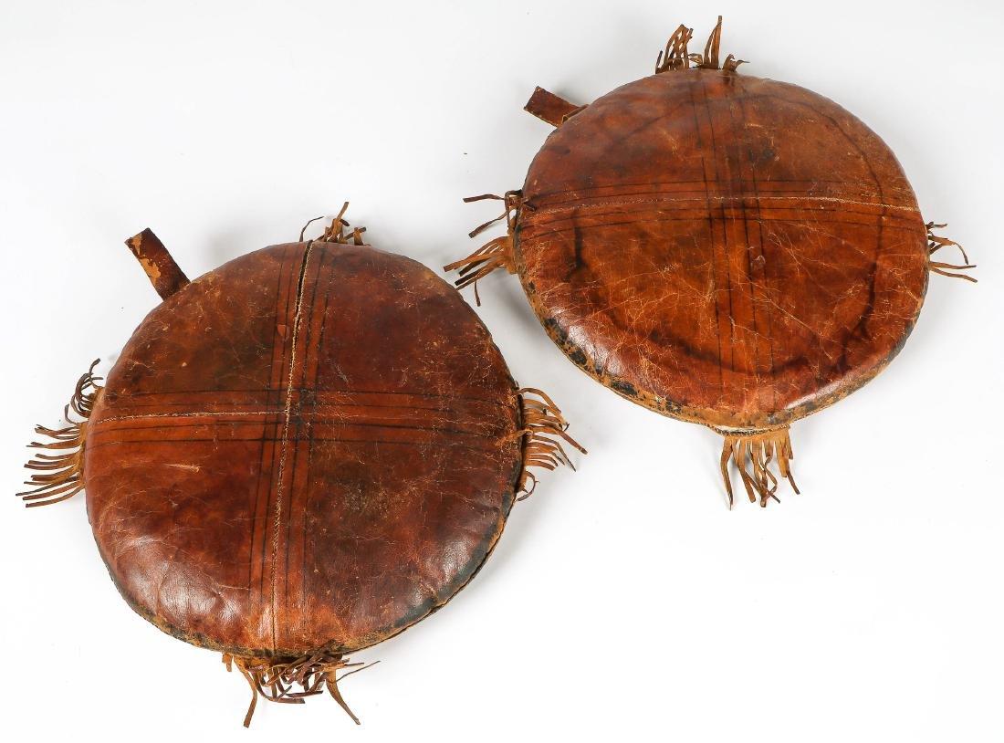 6 Tuareg Leather Pillows - 3