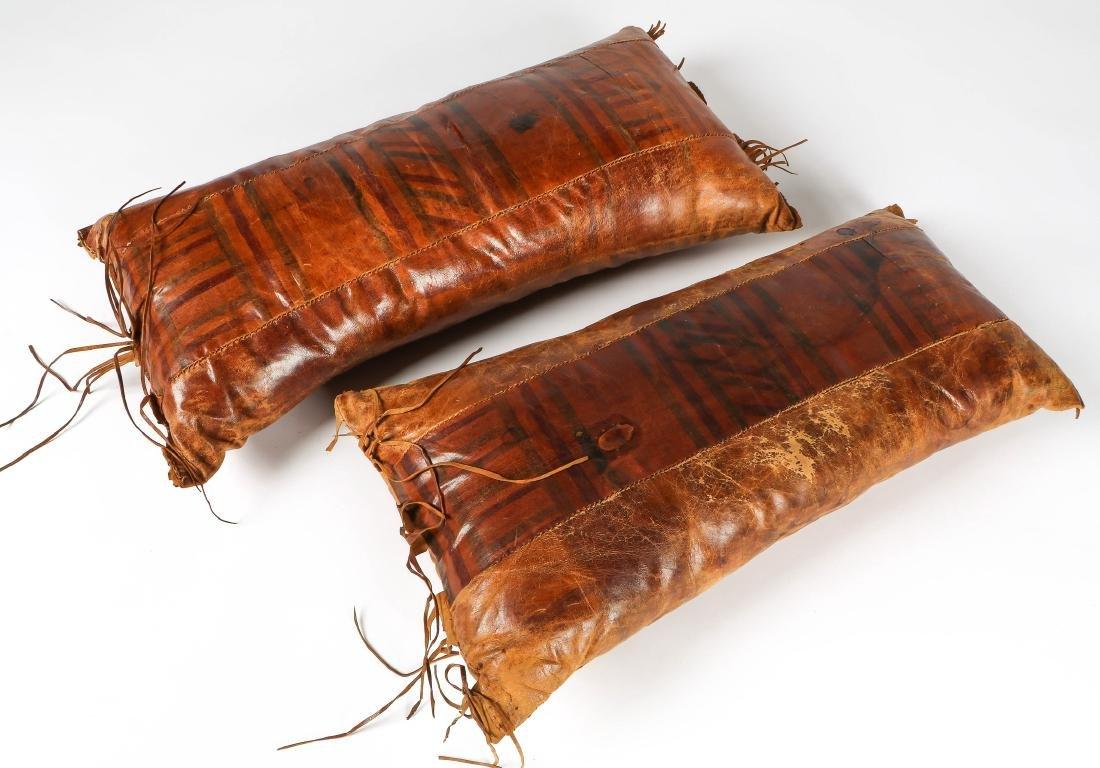 6 Tuareg Leather Pillows - 5