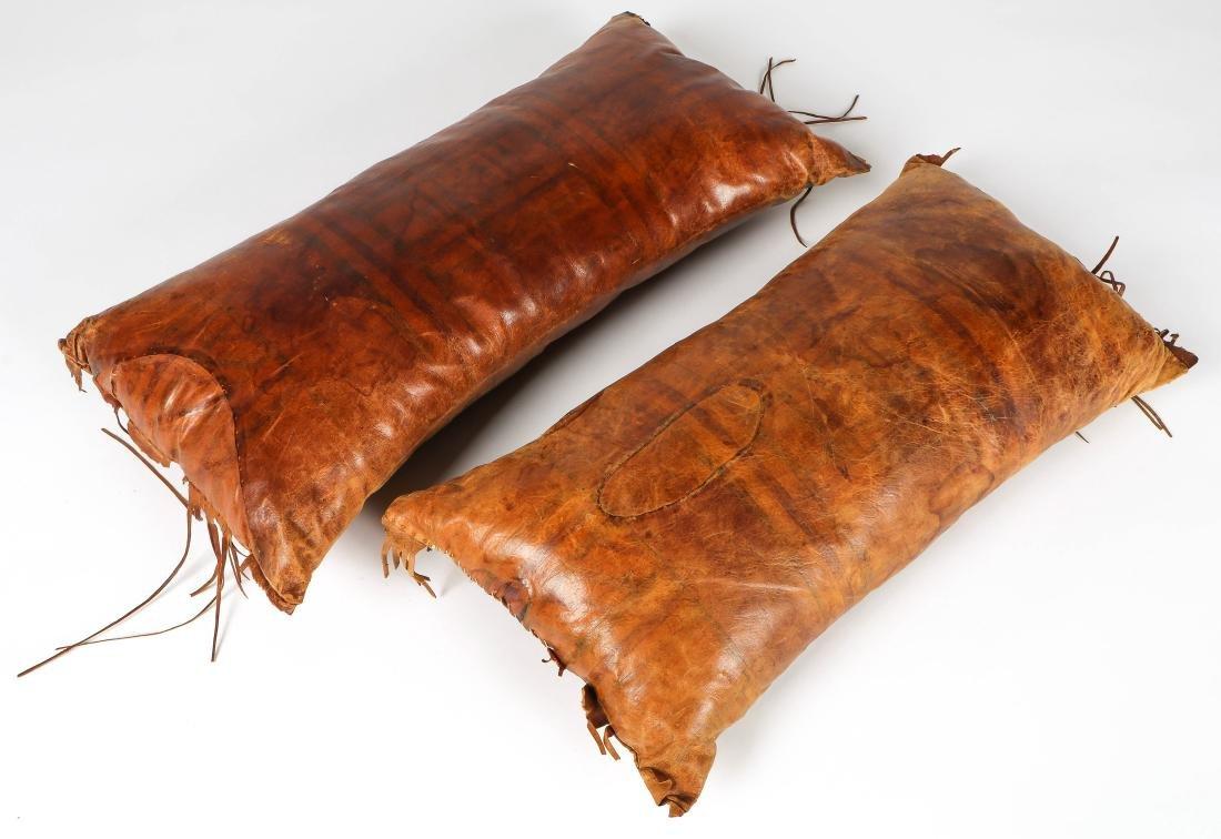6 Tuareg Leather Pillows - 6