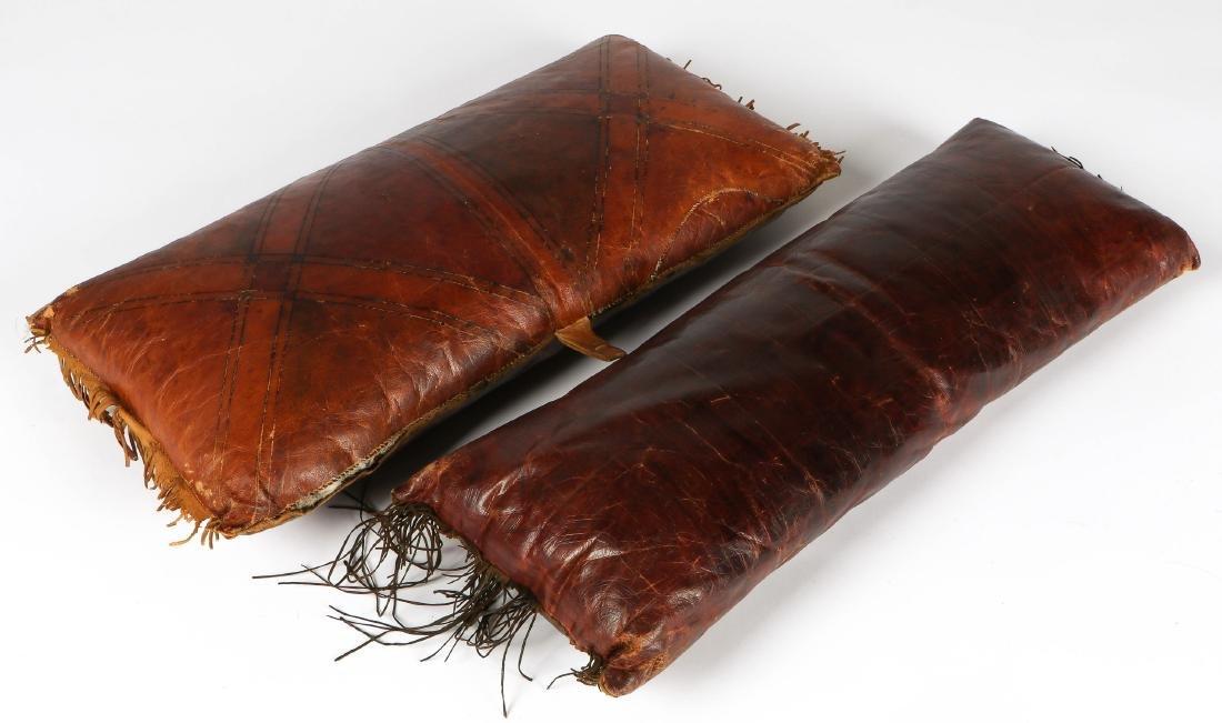 6 Tuareg Leather Pillows - 8