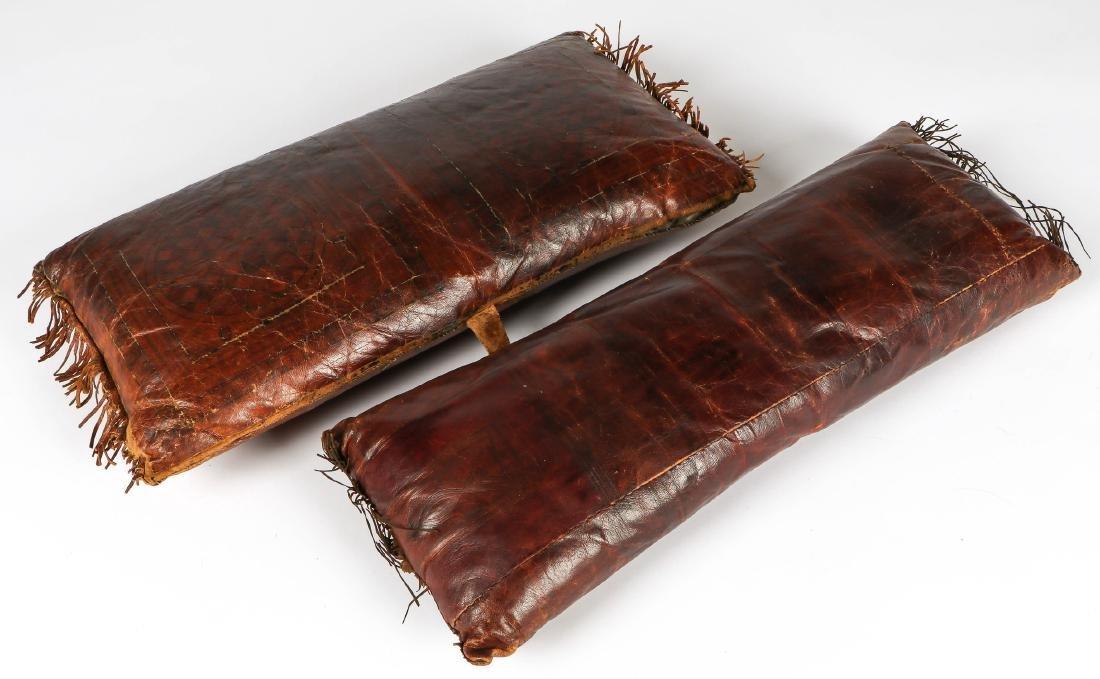 6 Tuareg Leather Pillows - 9