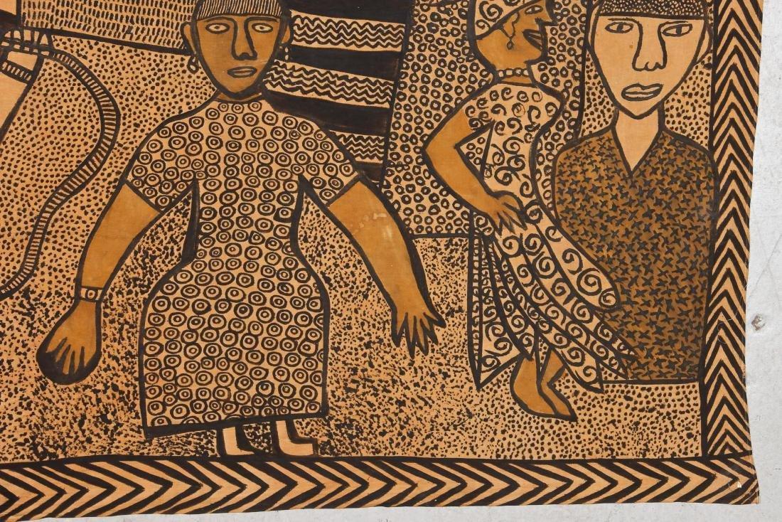 African Bamana Painted Mudcloth (Mali) - 2