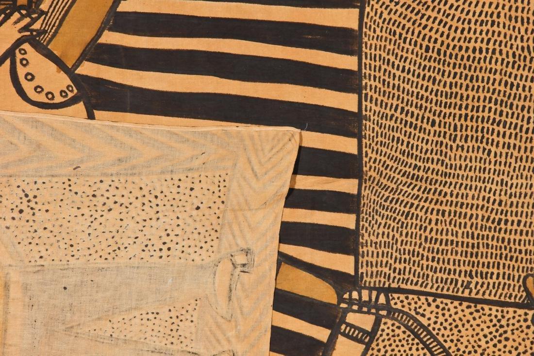 African Bamana Painted Mudcloth (Mali) - 3