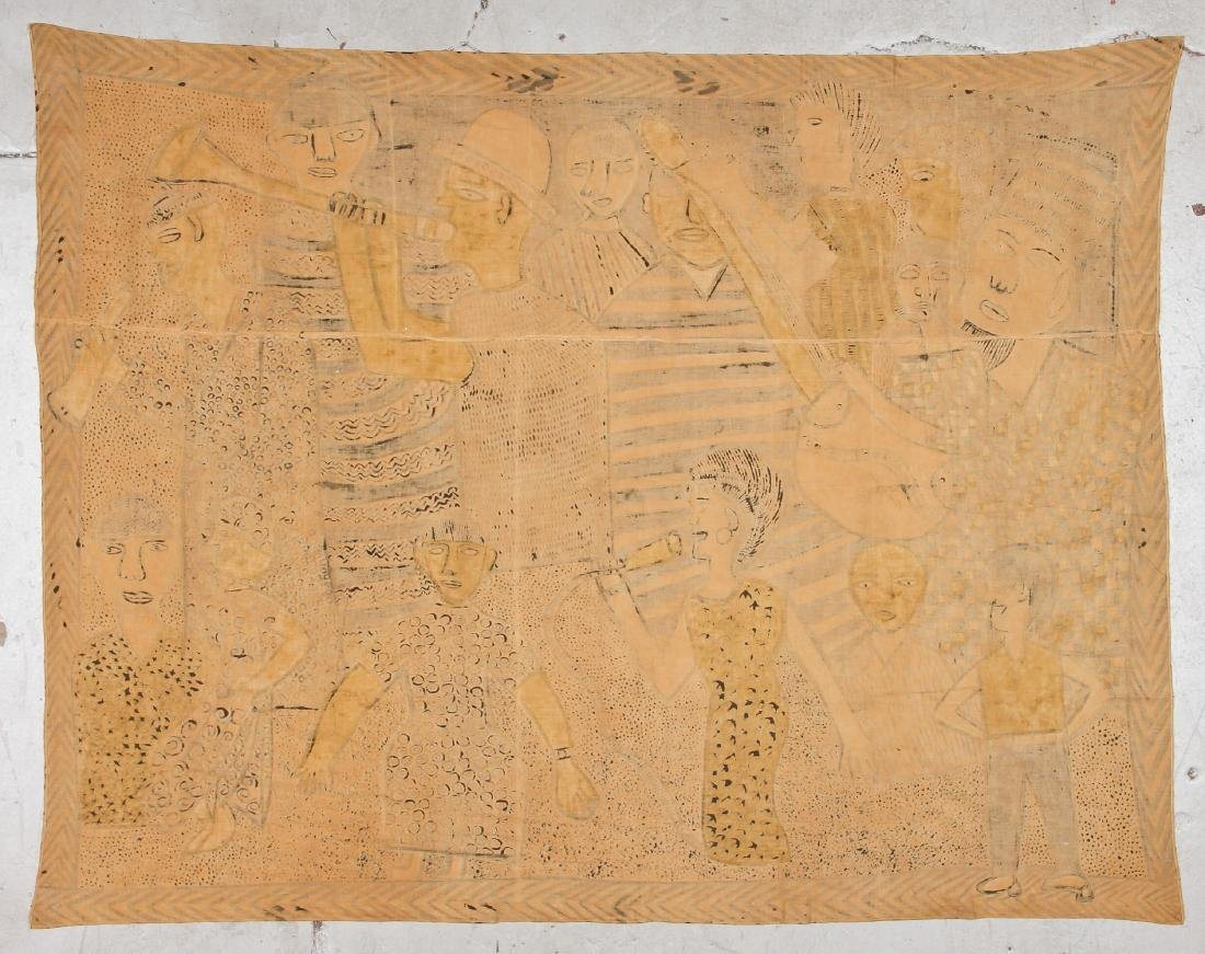 African Bamana Painted Mudcloth (Mali) - 4