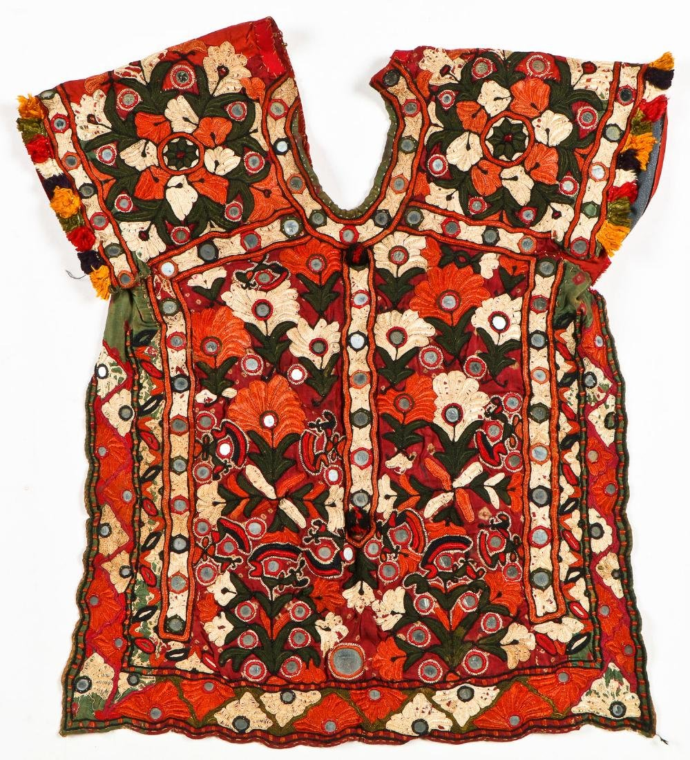 2 Sind Embroidered Blouses w. Mirrors - 2