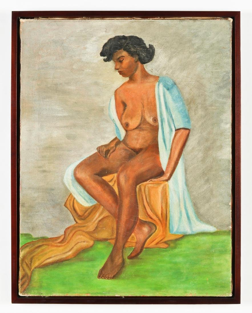 Anonymous Artist (American, 20th c.) Seated Nude Figure - 2