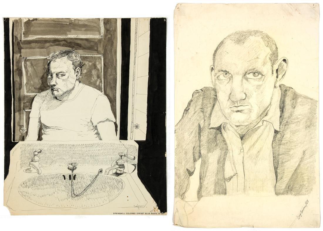 Jerry Cogburn (20th c.) Two Self-portraits