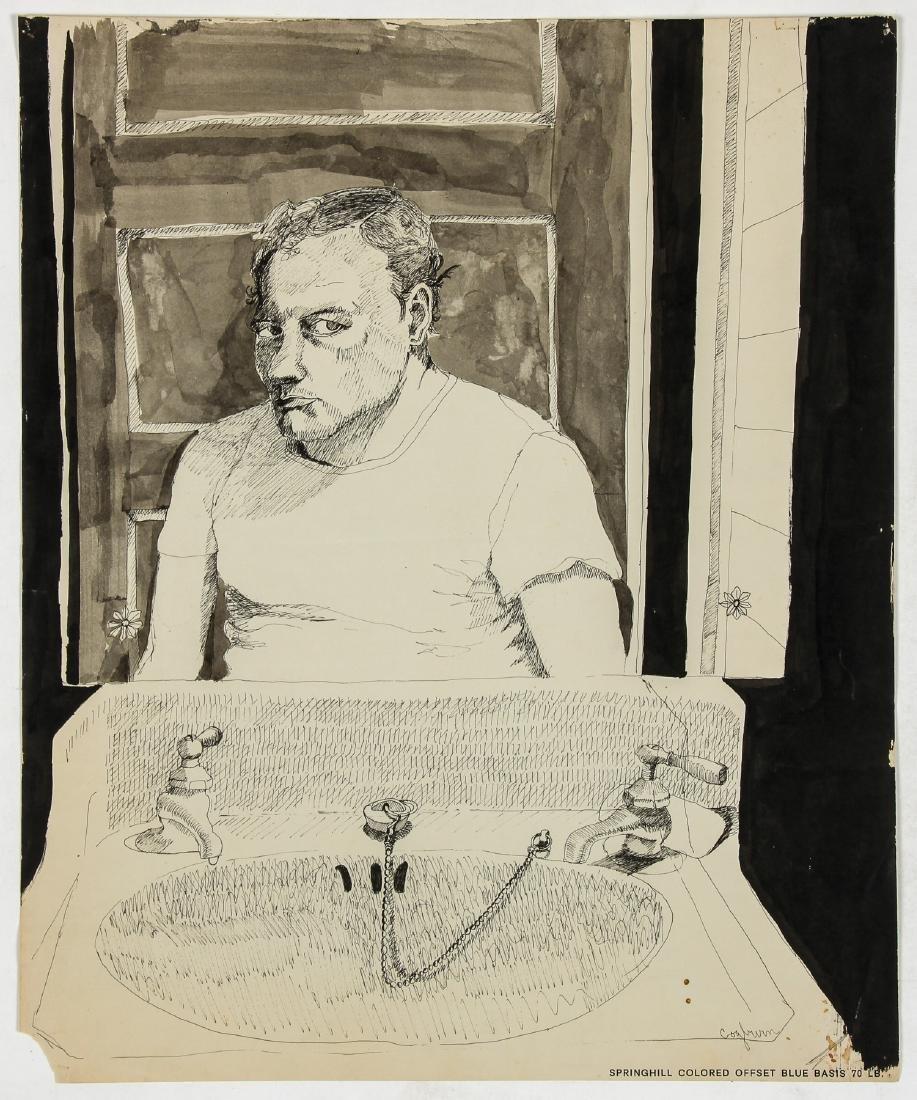 Jerry Cogburn (20th c.) Two Self-portraits - 2