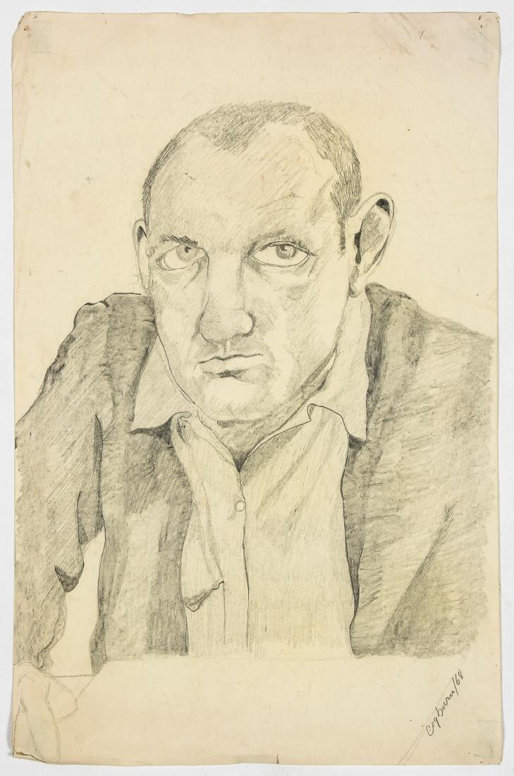 Jerry Cogburn (20th c.) Two Self-portraits - 5