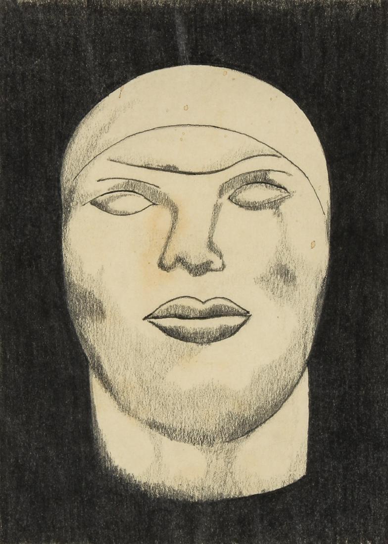 Manuel Lanz (American, 20th c.) Head, 1975