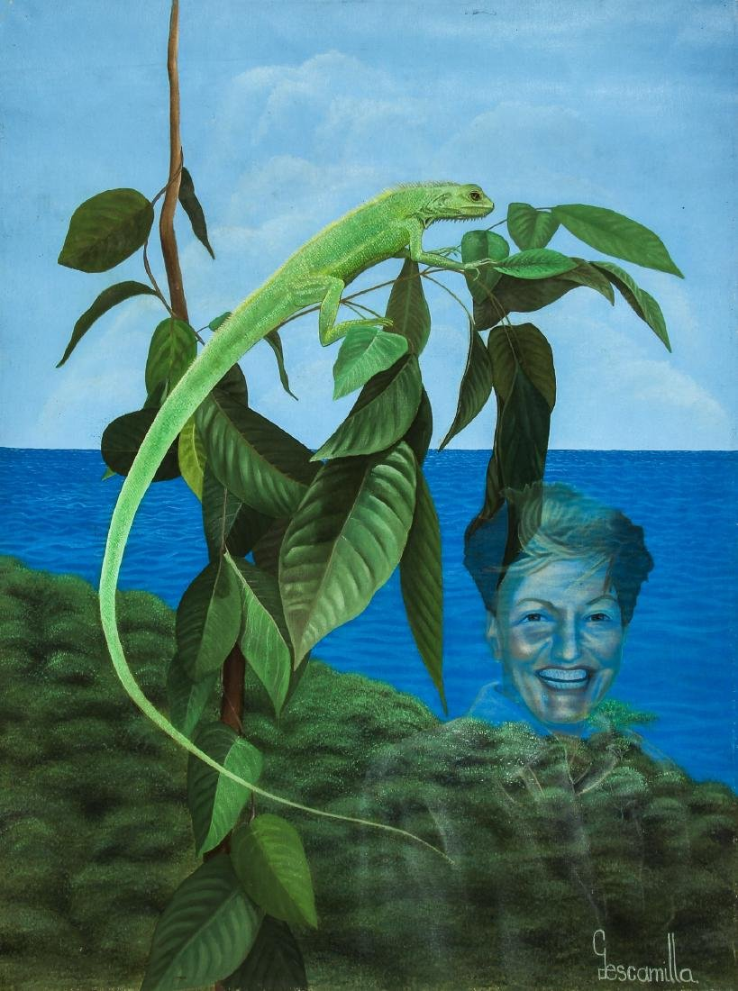 Gescamilla (20th c.) Water Spirit with Lizard
