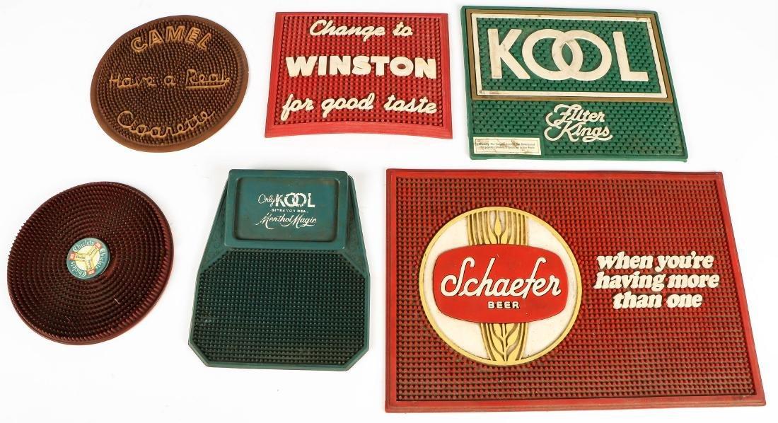 6 Vintage Bar Mats