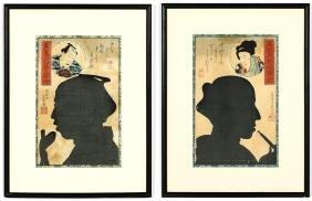 Utagawa Yoshiiku (Japanese, 1933-1904) 2 Color