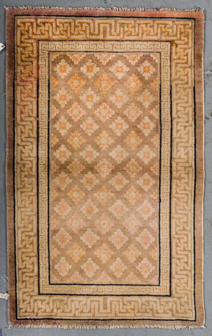 Antique Chinese Rug: 3'4'' x 5'4''