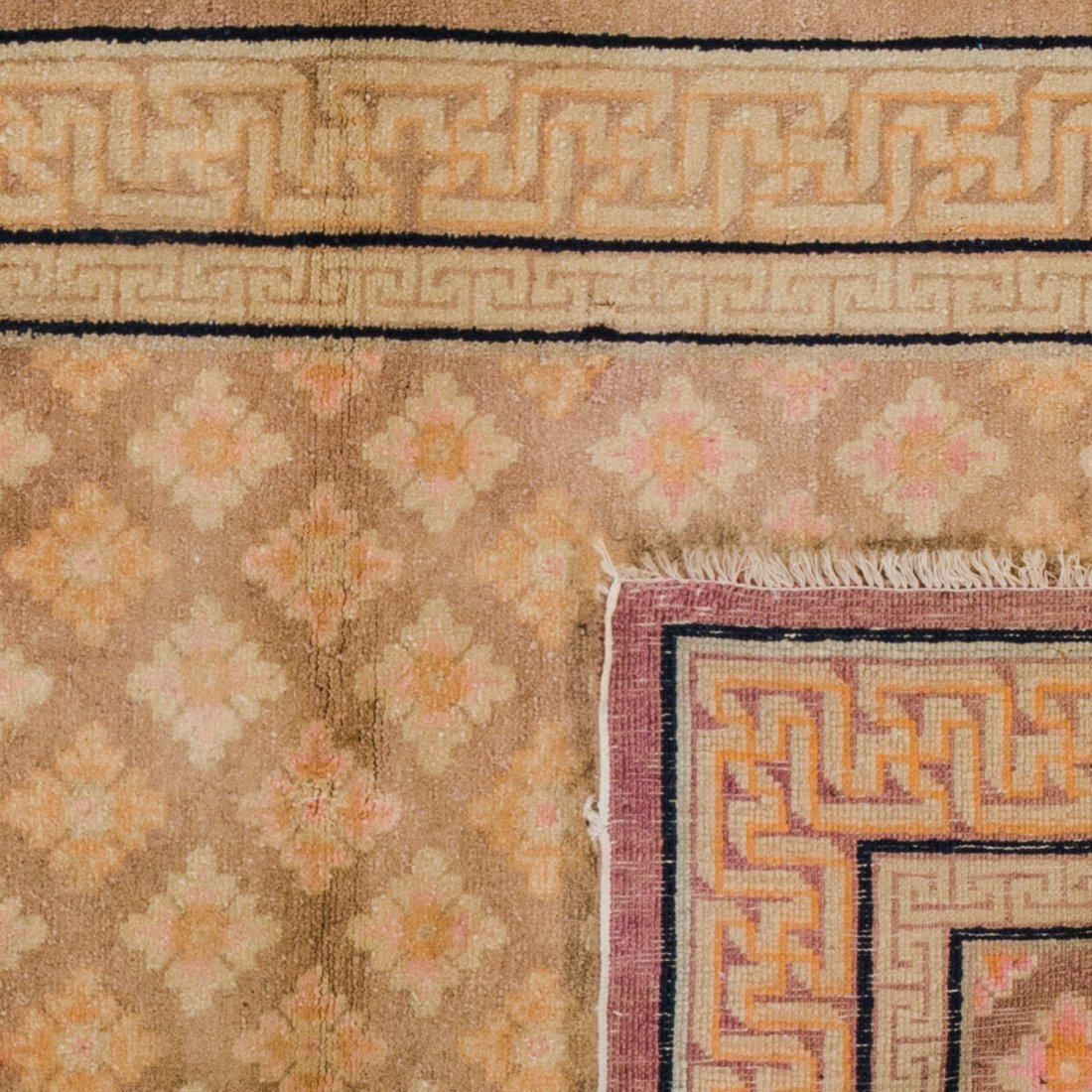 Antique Chinese Rug: 3'4'' x 5'4'' - 2