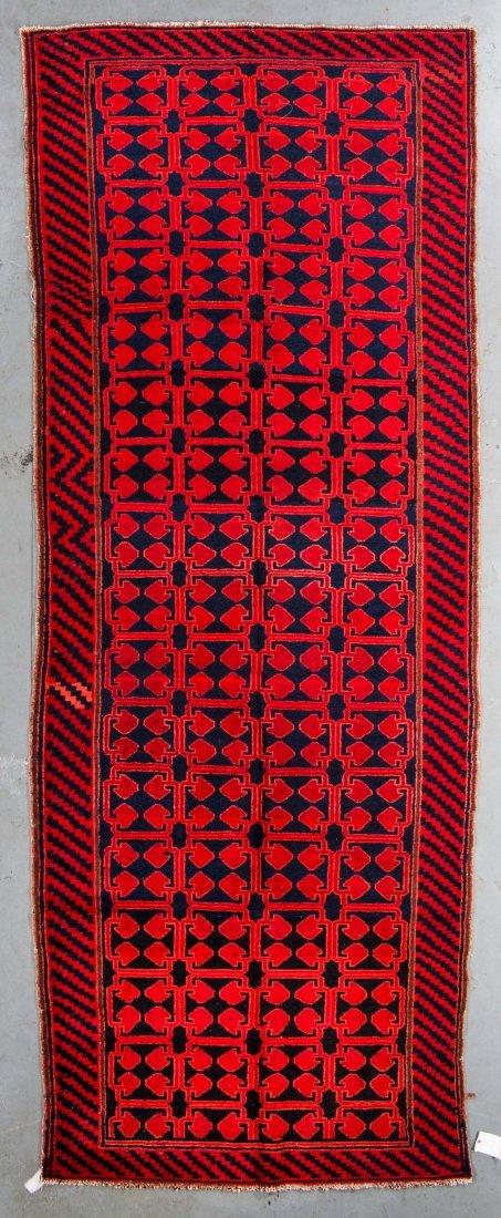 Antique Qinghai Rug: 5'4'' x 14'3''