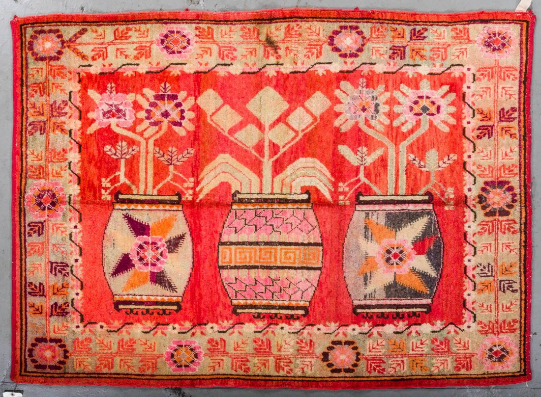 Antique Samarkand Rug: 4'8'' x 6'5''