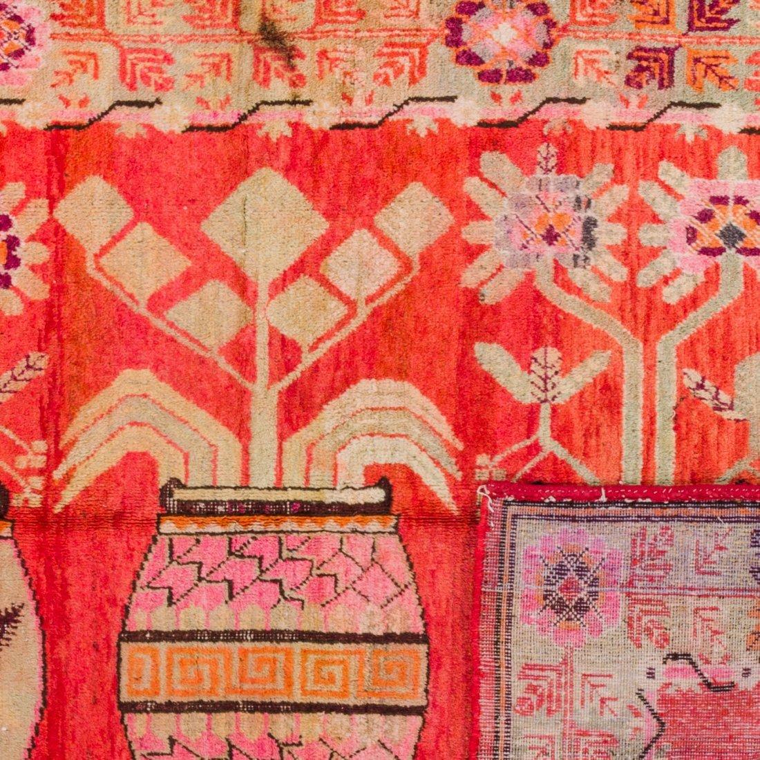Antique Samarkand Rug: 4'8'' x 6'5'' - 2