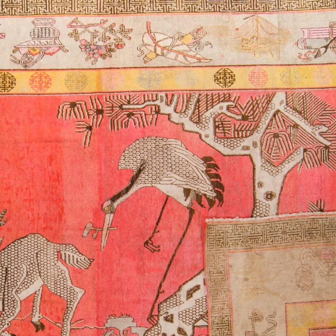 Large Antique Samarkand Rug: 9'4'' x 14'2'' - 2
