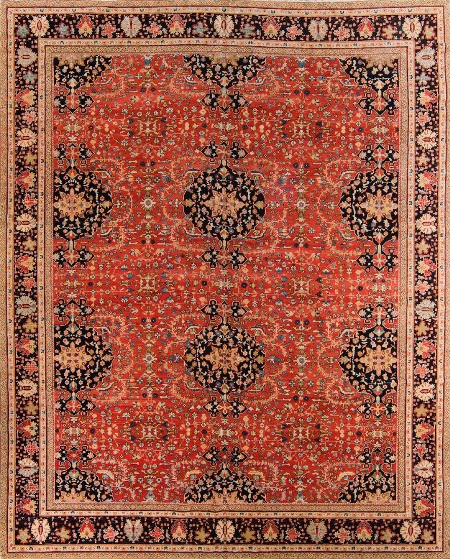 Tabriz Style Rug: 10'9'' x 13'3''