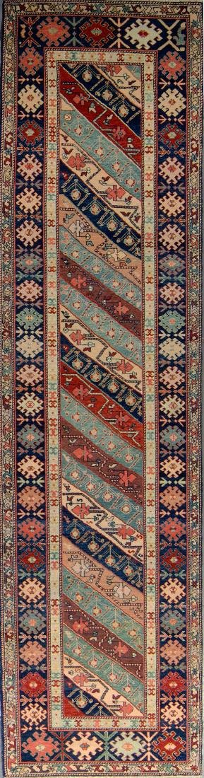 Caucasian Style Rug: 2'5'' x 10'4''