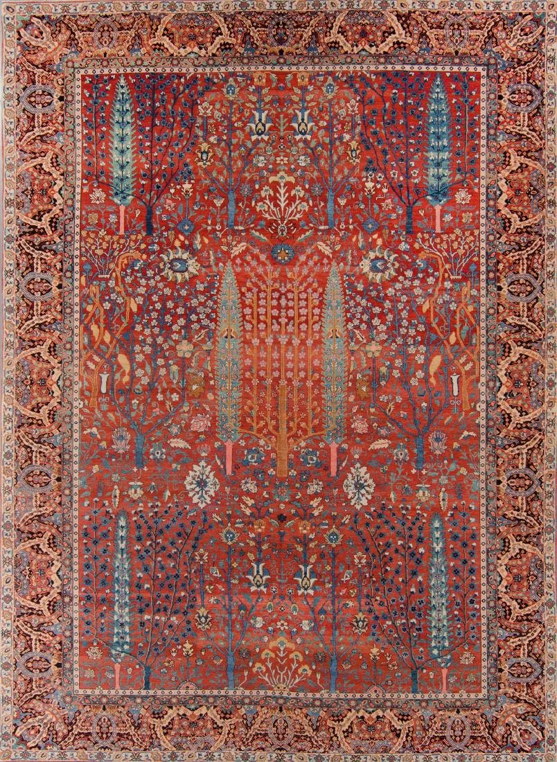 Classical Persian Style Garden Carpet: 10'0'' x 14'0''