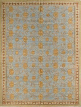Khotan Style Rug: 9'0'' x 12'0''