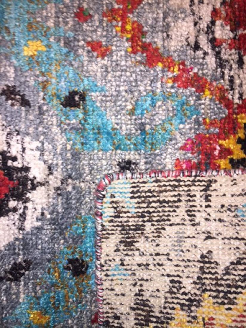 Ikat Sari Silk Rug: 5'3'' x 7'6'' - 2