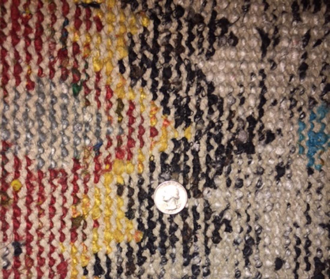 Ikat Sari Silk Rug: 5'3'' x 7'6'' - 3
