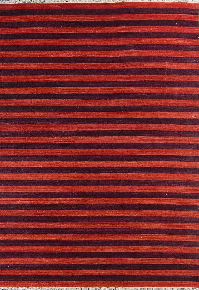 Natural Dye Wool Kilim: 6'6'' x 9'5''