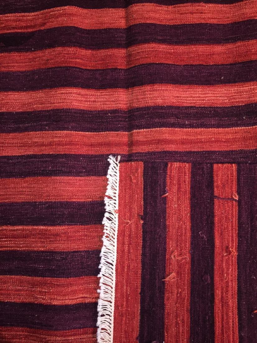 Natural Dye Wool Kilim: 6'6'' x 9'5'' - 2