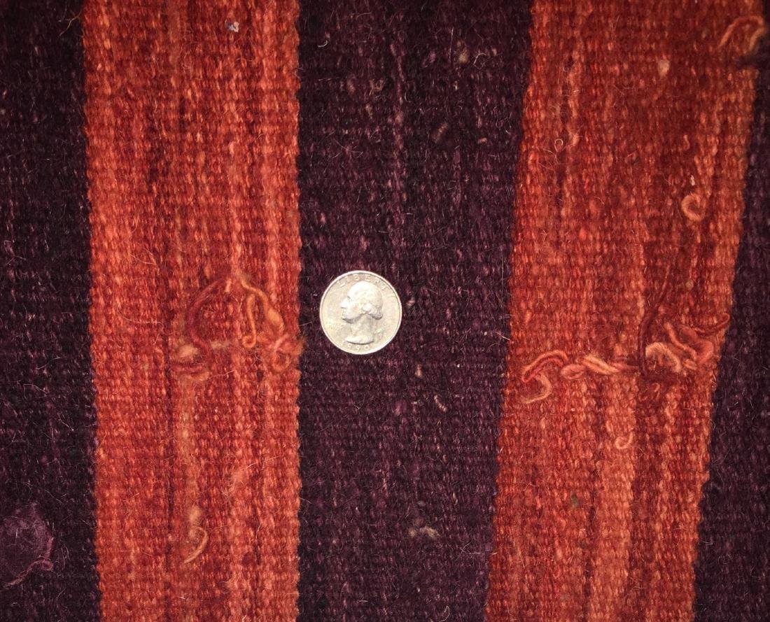 Natural Dye Wool Kilim: 6'6'' x 9'5'' - 3