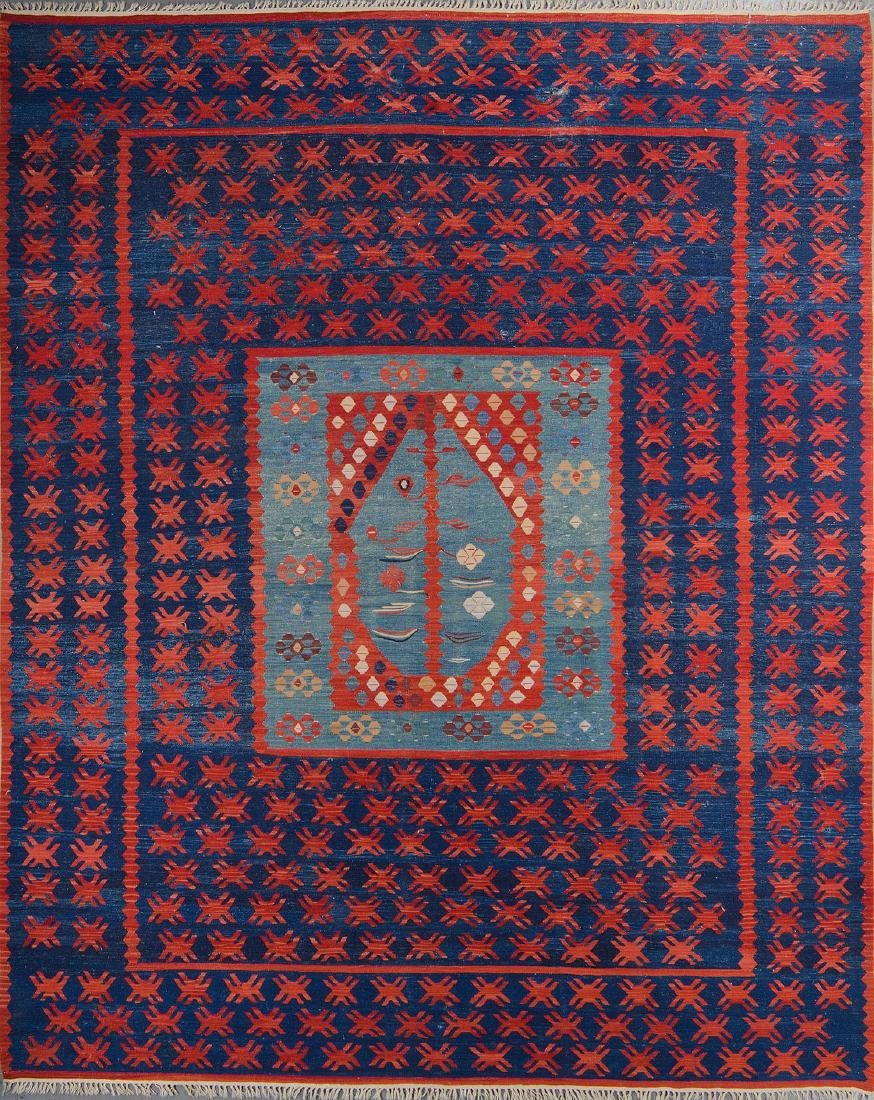 Turkish Sharkoy Kilim: 8'10'' x 11'2''