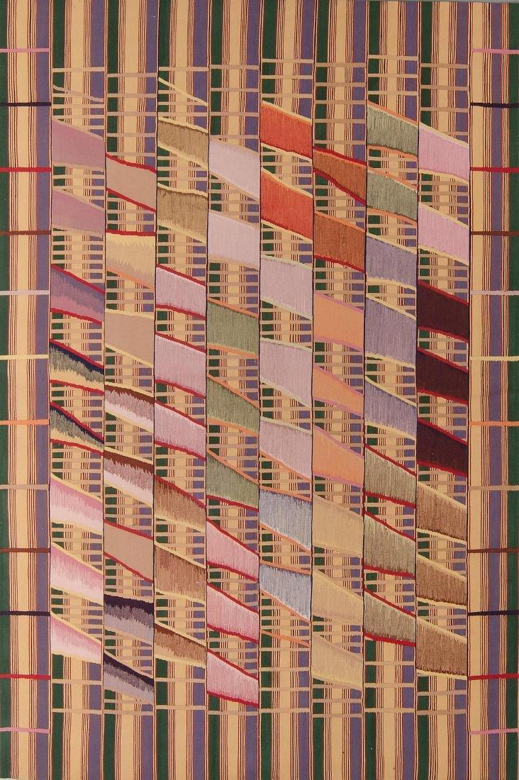 Rumal Ashanti Wool Kilim: 5'11'' x 8'10''