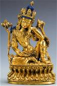 Sino Tibetan Gilt Bronze Buddha