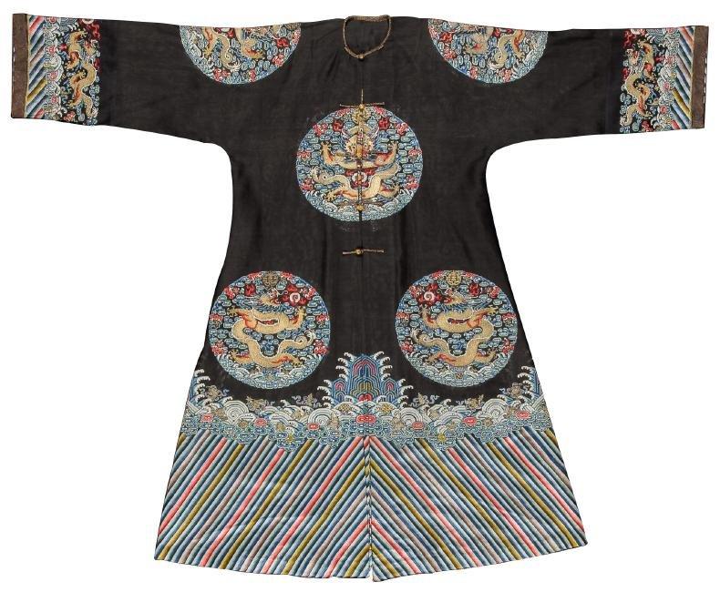 Fine/Rare Antique Chinese Silk Summer Dragon Robe