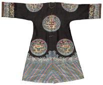 FineRare Antique Chinese Silk Summer Dragon Robe