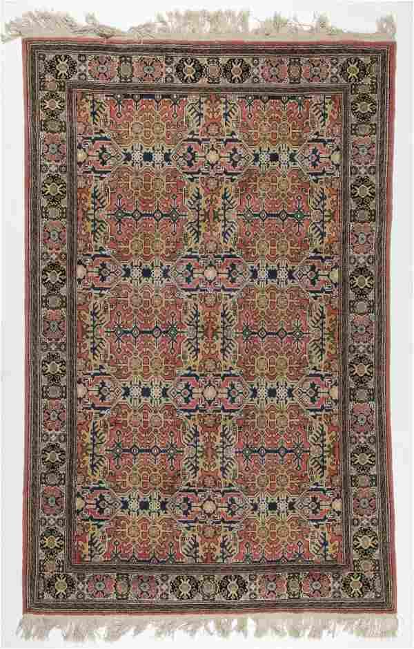 Vintage Fine Wool Hereke Rug: 4' x 7'9'' (122 x 236 cm)