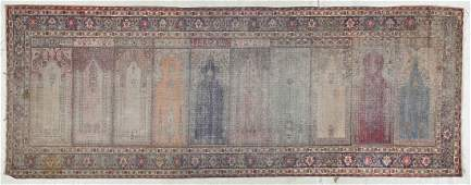 SemiAntique Turkish Prayer Rug 33 x 87 99 x