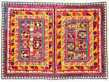 Large Vintage Embroidered Wedding Canopy, India