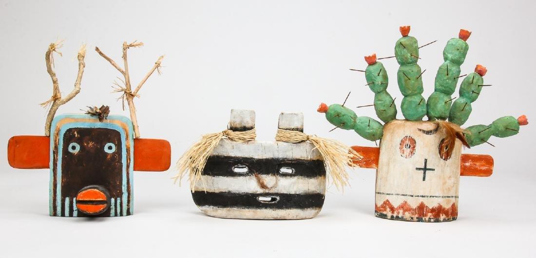 Duane O'Hagan (20th c.) 3 Kachina Masks