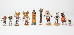 10 Hopi Kachina Dolls by Various Artists