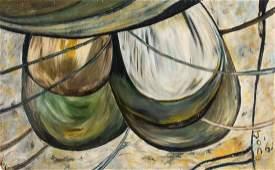 Jon Serl (1894-1993) Abstract Composition, 1961
