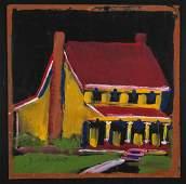 Jimmy Lee Sudduth (American, 1910-2007) Yellow House
