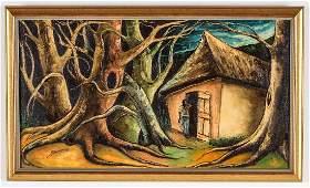"""Jacques-Enguerrand Gourgue (1930-1996) """"Solitude"""""""